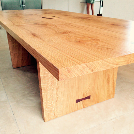 dining table in french oak
