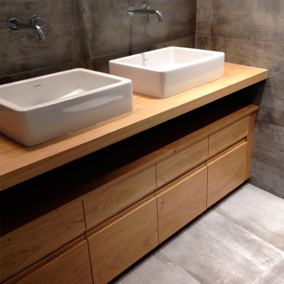 bathroom furniture in french oak